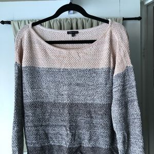 Soft pink and grey sweater